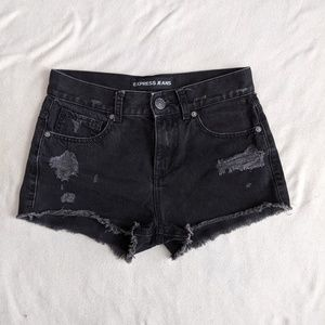 Express High Waist distressed Cut Off Shorts
